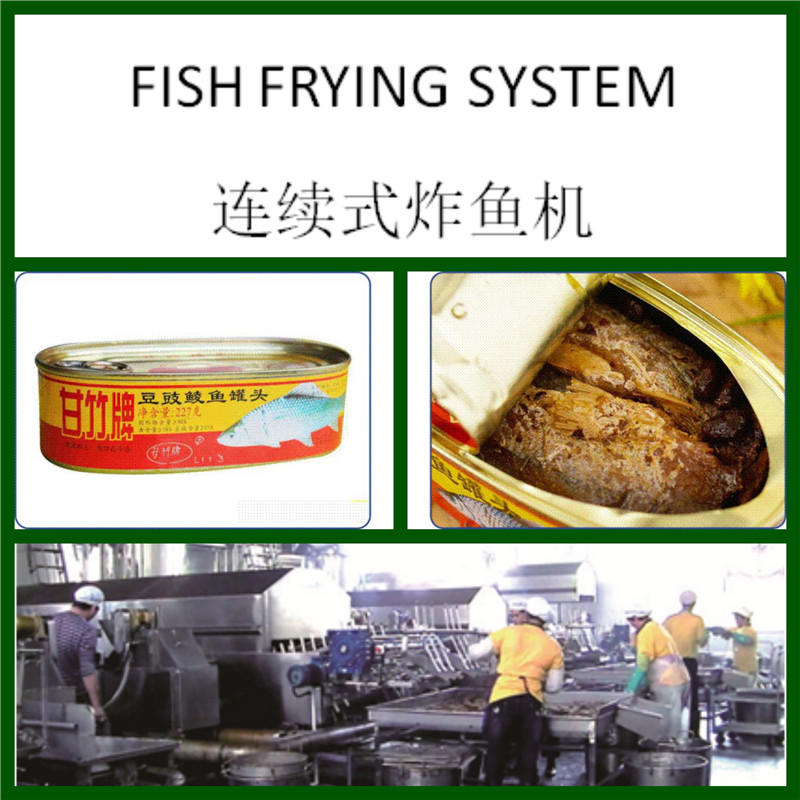 连续式炸鱼系统